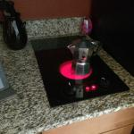 Nice stove top, able to make my own coffee each morning.