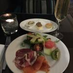 evening canapes and drinks at the Club Lounge