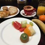 breakfast at the club lounge