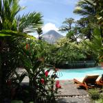 View of the volcano from hotel pool