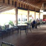 Dinning and patio areas