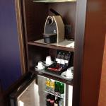 Mini bar and coffee machine
