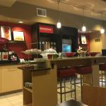 Breakfast area inside the Blue Ash TownePlace Suites.