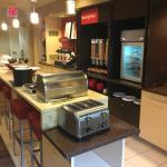 Another look at the breakfast area showing food items from this end.