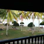 View of beach from our room