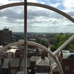 Penthouse Suite: view out of large arched window