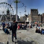 View outside the hotel in Dam Square