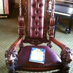 Ornate chair in Resorts 13th FL reception room after Garden State Film Festival