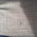Stained, disgusting couch in room