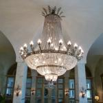 Chandelier in looby