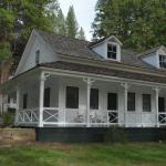 Clark Cottage. Private bathrooms are in the cottages.