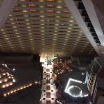 View into the casino/resort from the pyramid hallway.