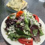 Most amazing salad with the best homemade dressing. Add the Gorgonzola cheese.