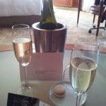 Lovely surprise 'welcome' tasting in suite