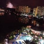 view of Epcot fireworks and pool from my room 939