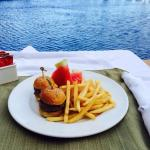 Delicious Burger Sliders by the pool!
