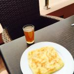 Breakfast - Moroccan pancake and mint tea