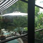 partial view of outside breakfast terrace