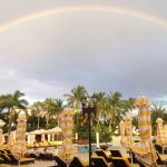 A beautiful rainbow at the Trump National Doral pool