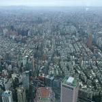 Looking back over Taipei City
