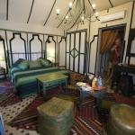 The interior of our Berber tent