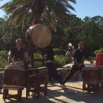 May 8 Travel Rally Day, Morikami Drummers came to play