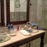 double  hand painted sinks in el duque suite