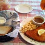 Schnitzel and spaetzel is absolutely delicious