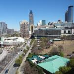 The view of downtown Atlanta from our room