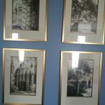 Pictures in our room. Notice the wedgwood blue wall.