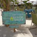 The sign to Blanchard's Beach Shack