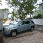 "At the parking lot of ""Duval Gardens"" in Key West"