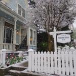 The Madison House has the most inviting porch to just relax or watch the parade go by. Breakfast
