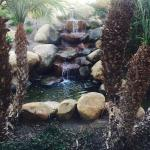 Waterfalls in the courtyard