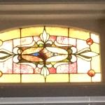Beautiful stained glass window in our suite!