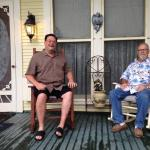 Ricky & Rusty on the porch the morning after the storm