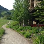 Hiking path right outside the hotel