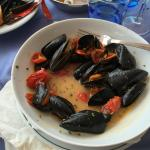 Delicious mussels from the lunch menu