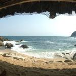 The view from under the palapa on the beach...