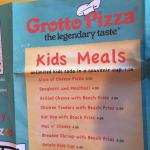 Kids Menu at Grotto Pizza Rehoboth