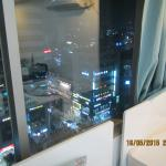 view from room, you can see HongDae shopping area