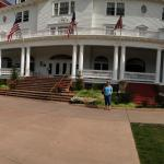 Front of the hotel.  This is shown in the movie Dumb and Dumber