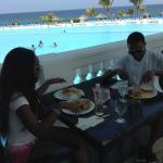Breakfast time at the Infinity Pool Dining area