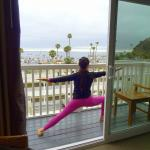 Room 441 balcony. Small but room enough for a yoga warrior pose.