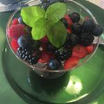 One of the 2nd courses: Fresh berry salad.