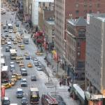 View of 8th Ave from our room