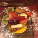 The best Brandy Snap Basket ever -  stacked with fresh fruit and ice cream, it was truely amazin