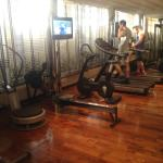 Gym on top floor - small but never busy