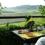 Dinner on the terrace with lovely typical Tuscan view!
