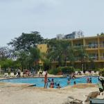 Pool & view of extended stay rooms